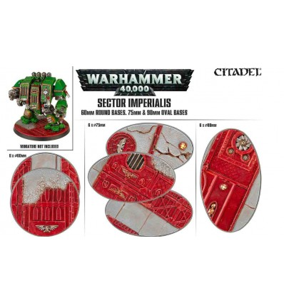 Warhammer 40000 Sector Imperialis Socles Ovales 75mm