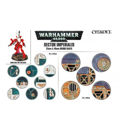 [Warhammer 40000] sector imperialis Socles Ronds 25mm & 40mm