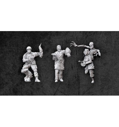 [Achtung! Cthulhu Miniatures] Allied Investigators Pack 1