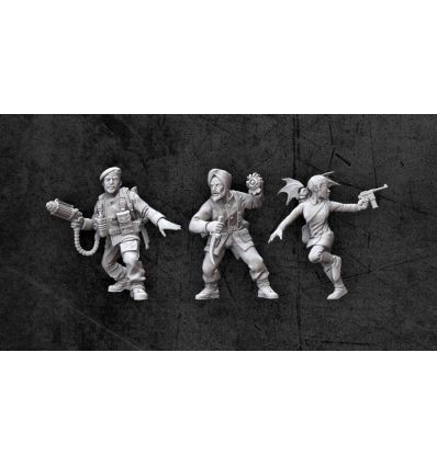[Achtung! Cthulhu Miniatures] Allied Investigators Pack 2