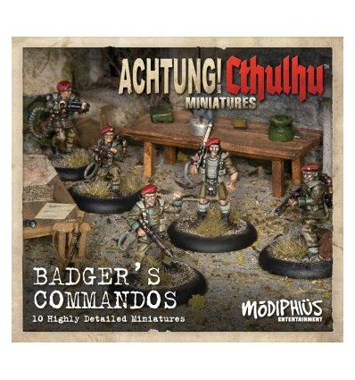 [Achtung! Cthulhu Miniatures] Badger's Commandos unit pack