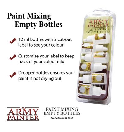 [Army Painter] Paint Mixing Empty Bottles